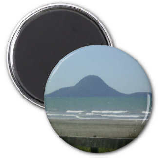 Whale Island, New Zealand 6 Cm Round Magnet