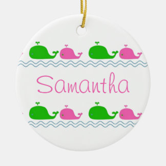 Whale Love Custom Ornament
