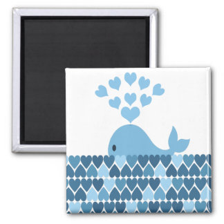 Whale Love Refrigerator Magnet