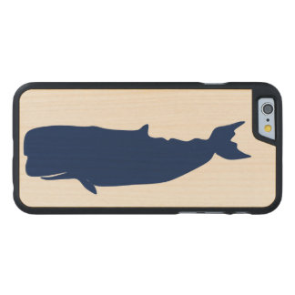 Whale Navy Carved Maple iPhone 6 Case