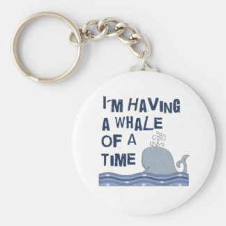 Whale of a Time Basic Round Button Key Ring