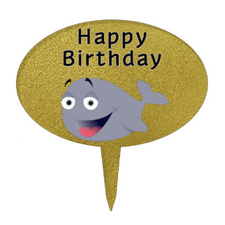 Whale of a Time - Happy Birthday Cake Picks