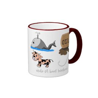 Whale Oil Beef Hooked fun slogan Ringer Mug
