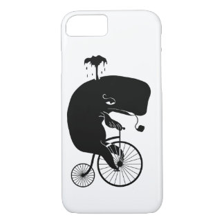 Whale on Vintage Bike iPhone 8/7 Case