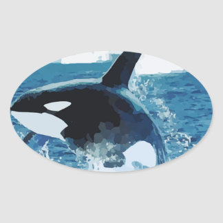Whale Orca  Water Animal Sea Ocean Fish Peace Love Sticker