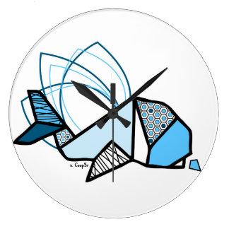 Whale origami clocks