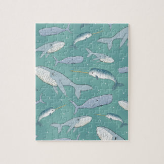 Whale Parade Pattern Jigsaw Puzzle