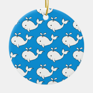 Whale Pattern Christmas Ornament