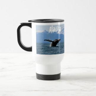 Whale Playtime; Alaska Stainless Steel Travel Mug