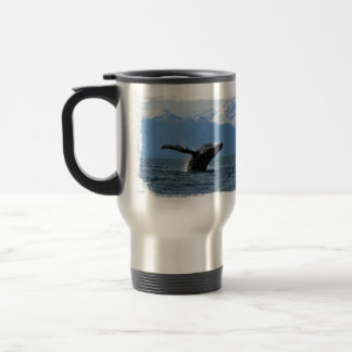 Whale Playtime; No Text Stainless Steel Travel Mug