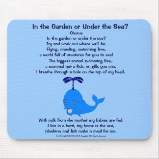 Whale poem Mousepad