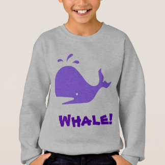 Whale! Purple. Customizable Sweatshirt