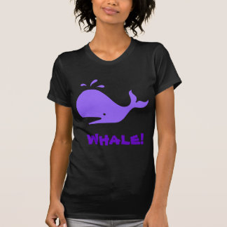 Whale! Purple. Customizable T-Shirt