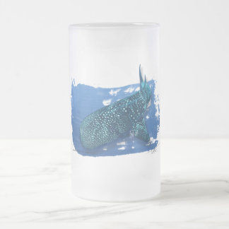 Whale Shark in the deep frosted beer mug