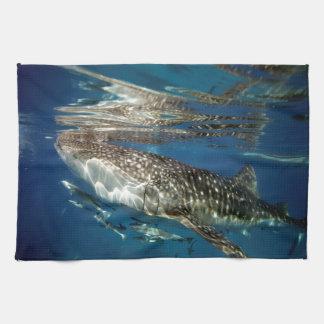 Whale shark Oslob Philippines Tea Towel