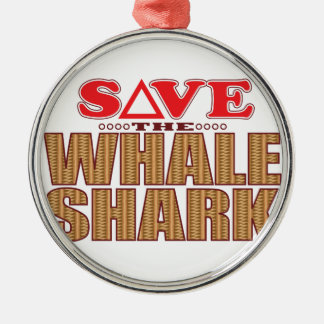 Whale Shark Save Christmas Ornament