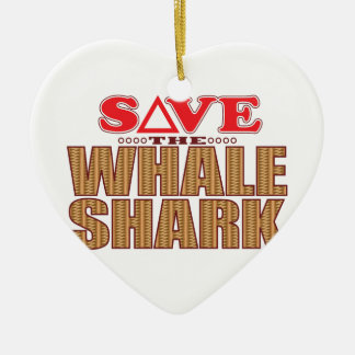 Whale Shark Save Christmas Ornament