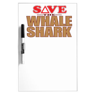 Whale Shark Save Dry Erase Board