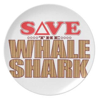 Whale Shark Save Plate