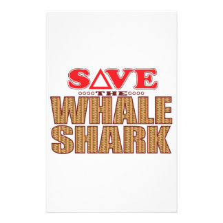 Whale Shark Save Stationery
