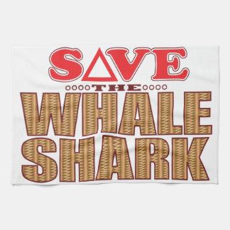 Whale Shark Save Tea Towel