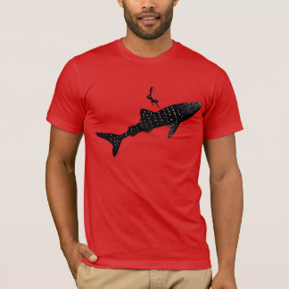 Whale shark swimming - white back signage T-Shirt