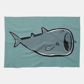 whale shark tea towel