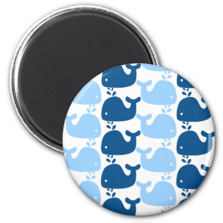 Whale Silhouette Print Magnet