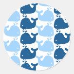 Whale Silhouette Print Sticker