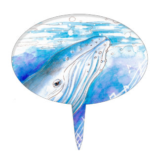 Whale Song Cake Pick