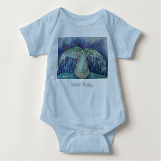 whale tail beach baby t-shirt