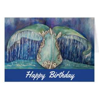 Whale tail birthday card