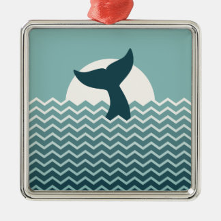 Whale Tail Christmas Ornament