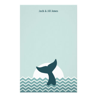 Whale Tail Personalised Stationery