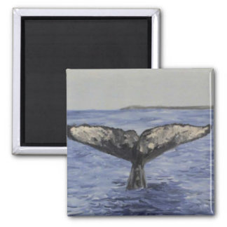 Whale Tail Square Magnet