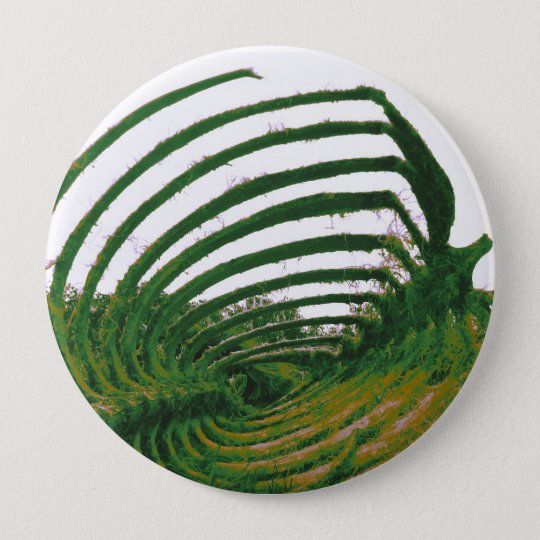 Whale Tattoo green 10 Cm Round Badge