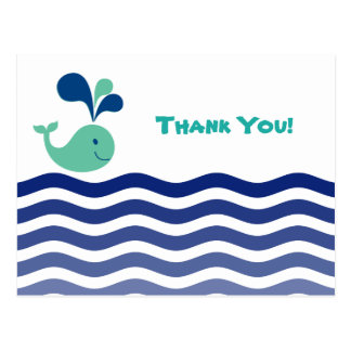 Whale Thank You Postcard