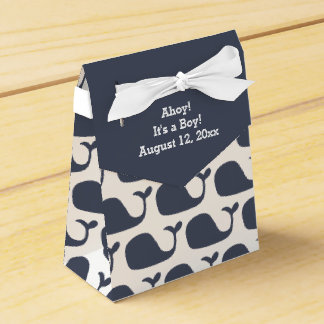 Whale Theme Baby Shower Favor Boxes