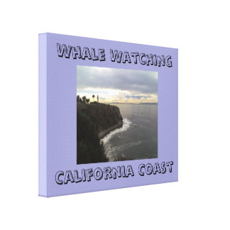Whale watching California Coast Wrapped Canvas Stretched Canvas Prints