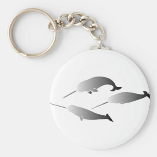whale whales narwal narwhale unicorn scuba diving key ring