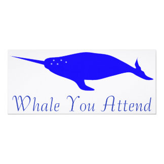 Whale You Attend Card