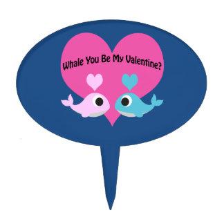 Whale You Be My Valentine? Cake Picks