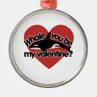 Whale you be my Valentine Christmas Tree Ornaments
