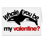 Whale you be my Valentine Greeting Card