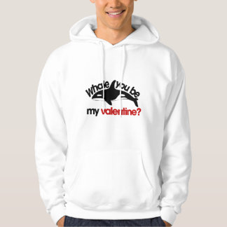 Whale you be my Valentine Hoodie