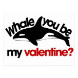 Whale you be my Valentine Postcard