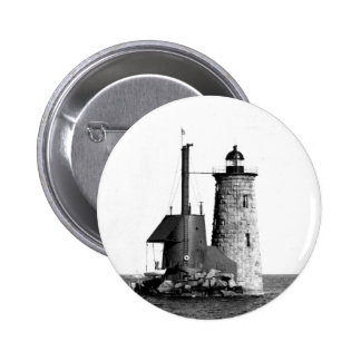 Whaleback Lighthouse Pinback Button