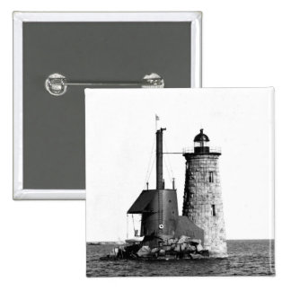 Whaleback Lighthouse Pinback Buttons