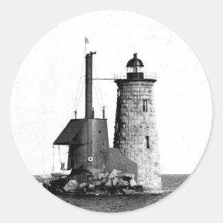 Whaleback Lighthouse Round Sticker