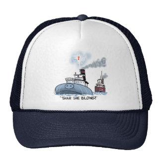 """Whaleback """"thar she blows"""" cap"""